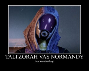 Tali'Zorah Vas Normandy: Just needs a hug.