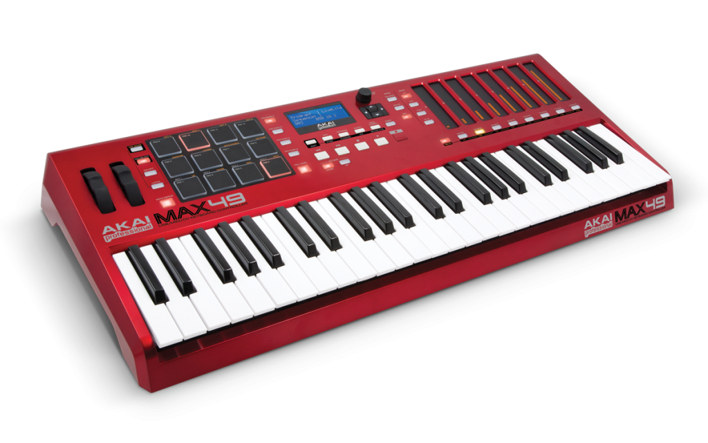 A Photograph of the Akai MAX49 MIDI Controller